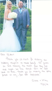 CT DJ Kurt Entertainment / Client Testimonial - Borowska-Hossman Wedding-09.06.14