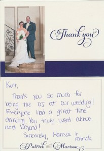 CT DJ Kurt Entertainment – Client Testimonial/ DiGangi-Silvestro Wedding-04.24.15